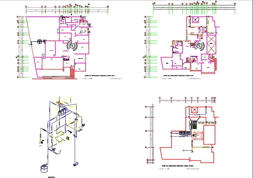 Plano de instalacion hidraulica casa residencial