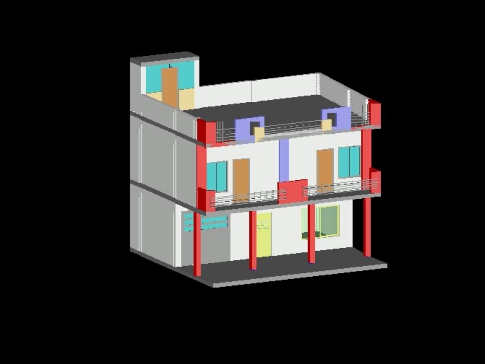 Vivienda terraza; mirador