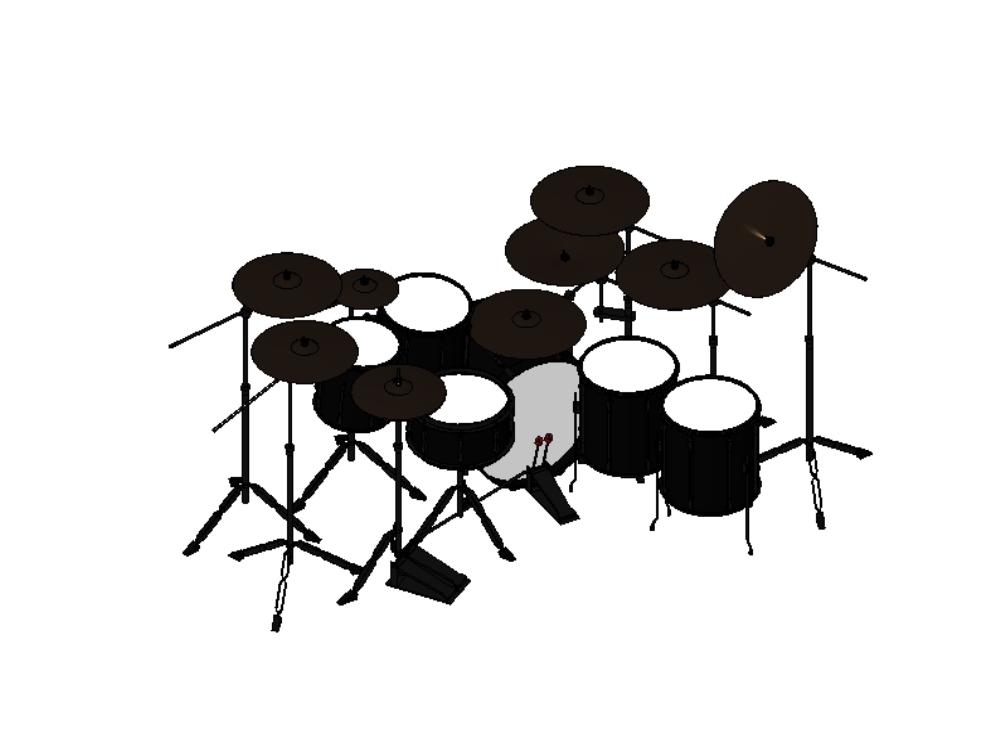 Batería para grupos musicales