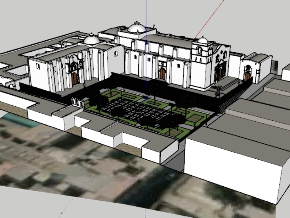3d model plaza san francisco arequipa