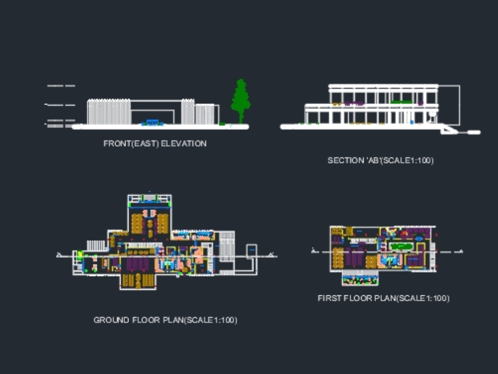 Plano y sección de libgen libraray