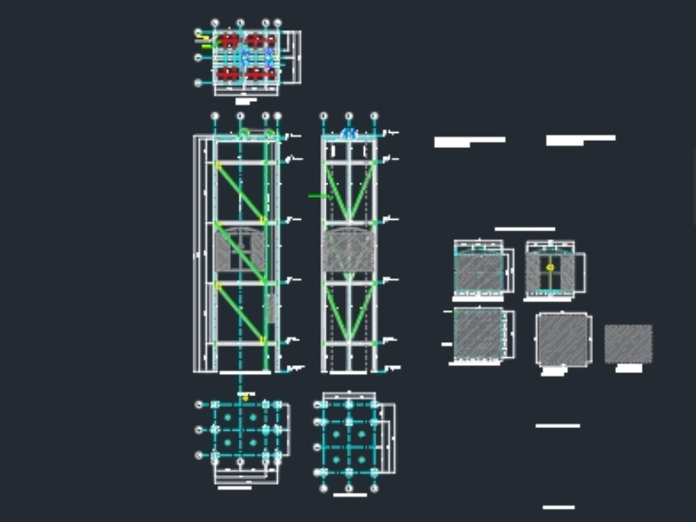 Estructura ascensor montacargas 1000 kg
