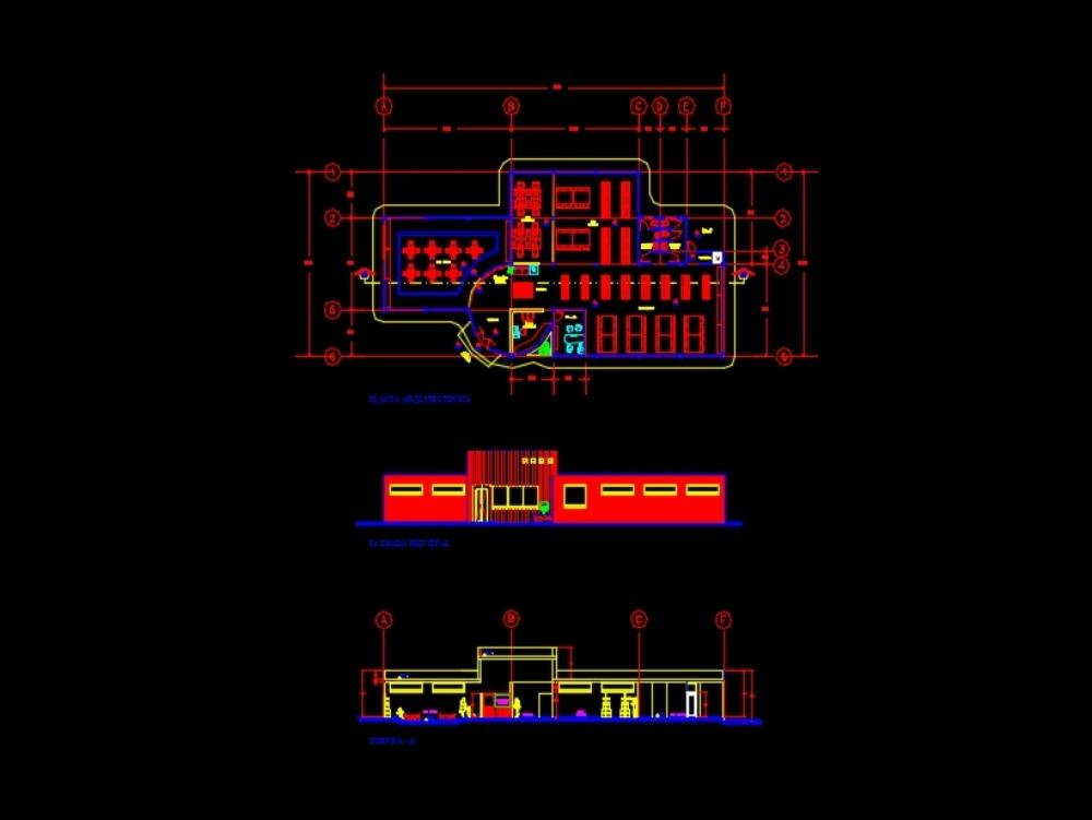 Biblioteca planos de diseño en autocad
