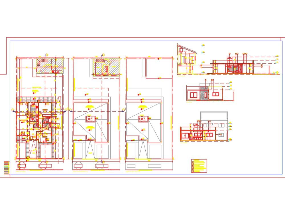 Single-family house plans on the ground floor