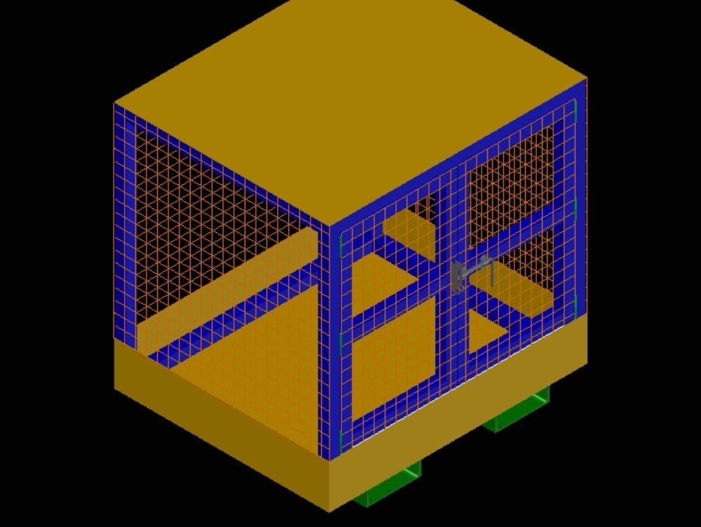Pallet type tool box