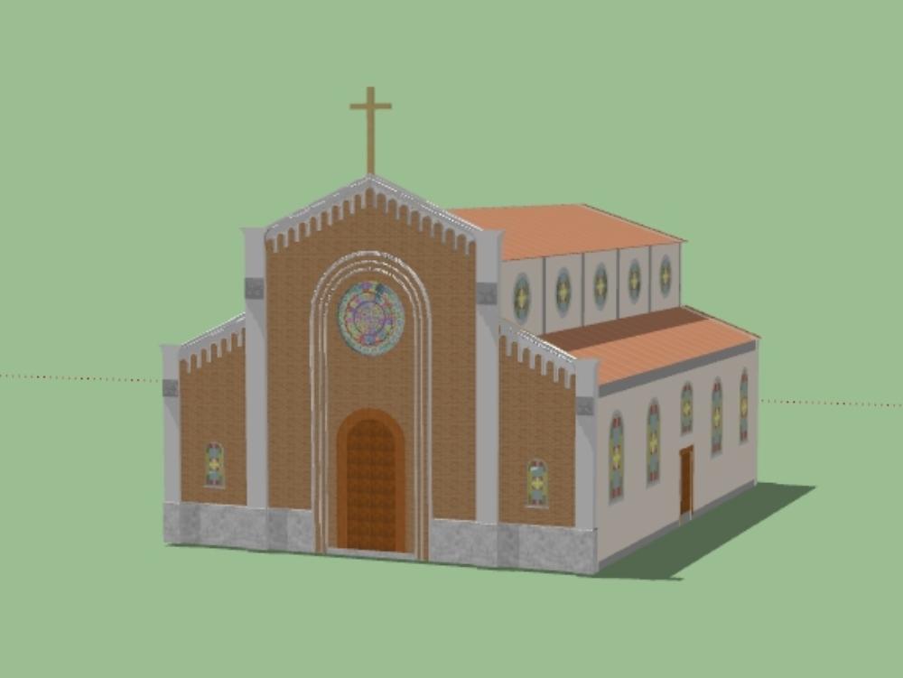 Templo parroquia san luis gonzaga 3d
