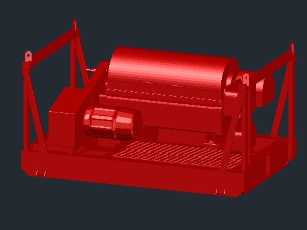 Horizontal centrifuge in 3d