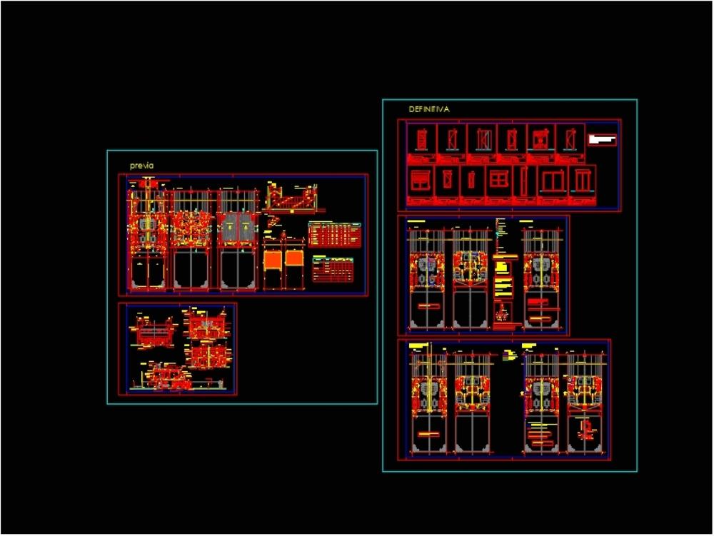 Duplex type house; in a single field.