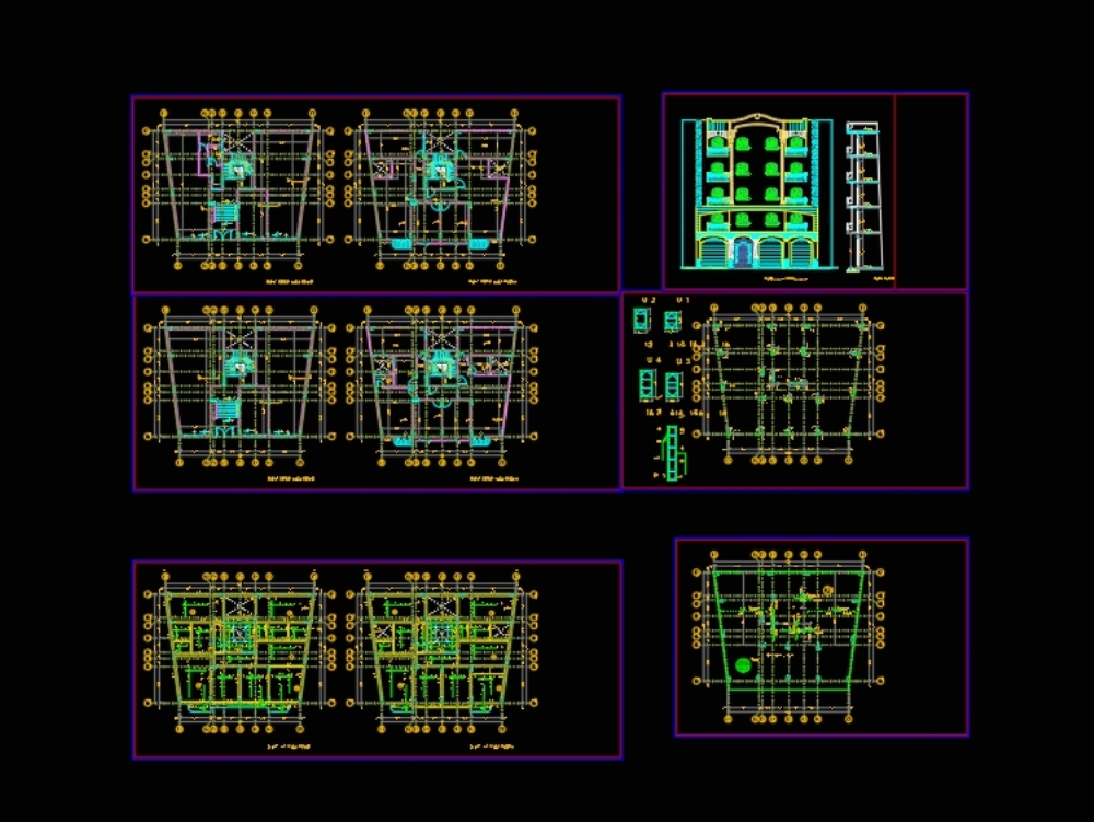 Complete residential building reinforced concrete