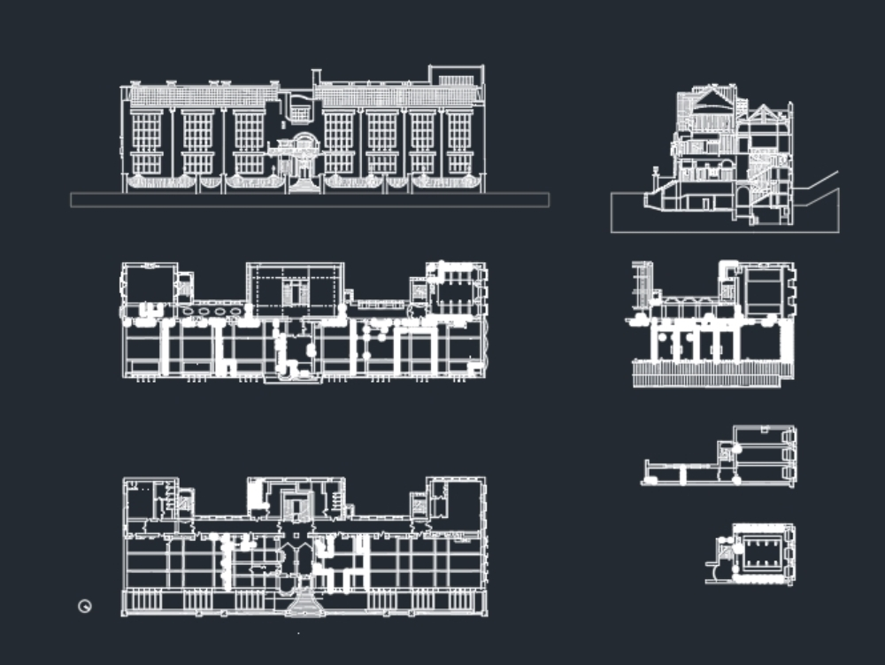 Glasgow school of art- plans; sections; elevations