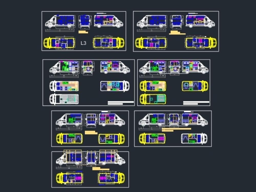 Various fiat ducato and peugeot boxer vans