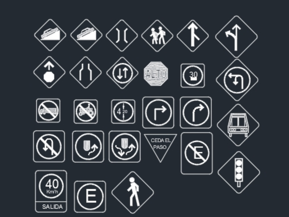 Pedestrian and vehicular signs