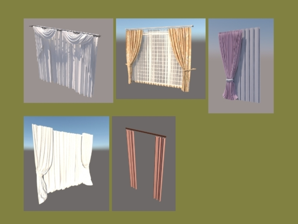 Curtains archive in sketchup
