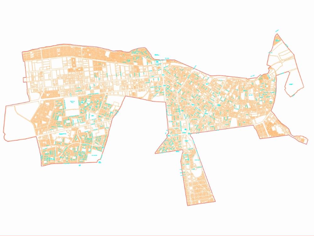 General plan of fencing in Lima urban plan