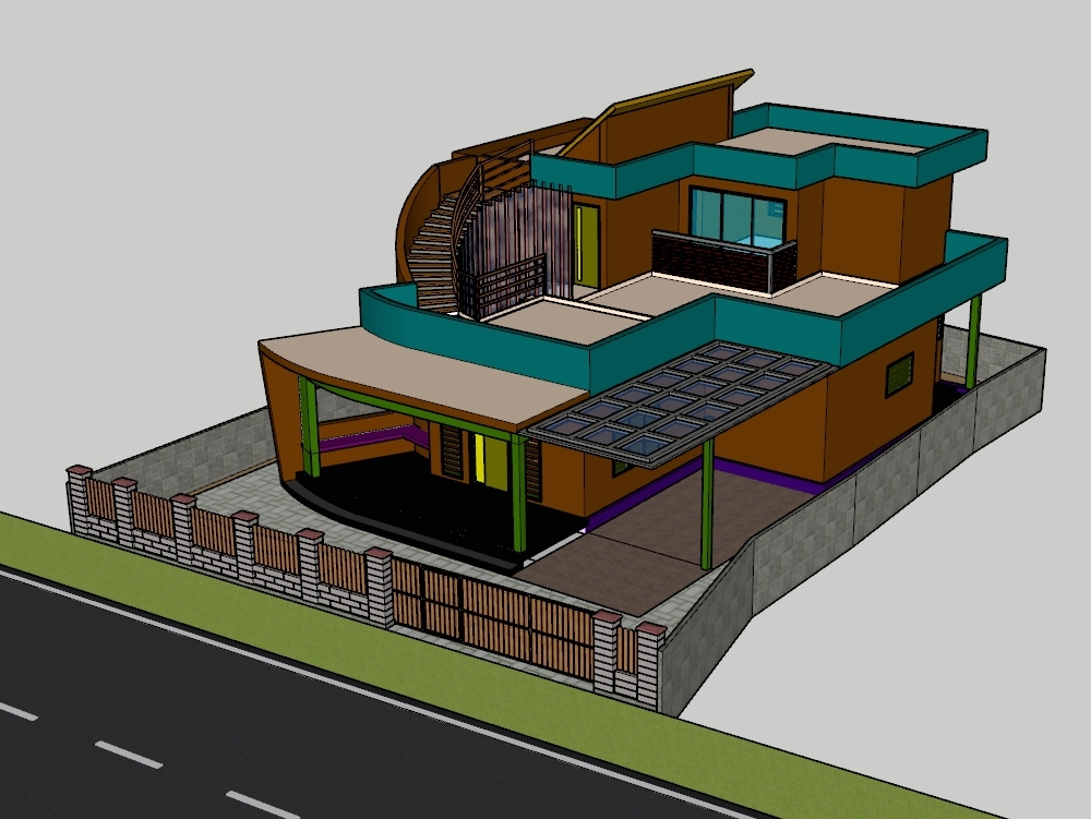 Climatic responsive building in warm and humid climate.