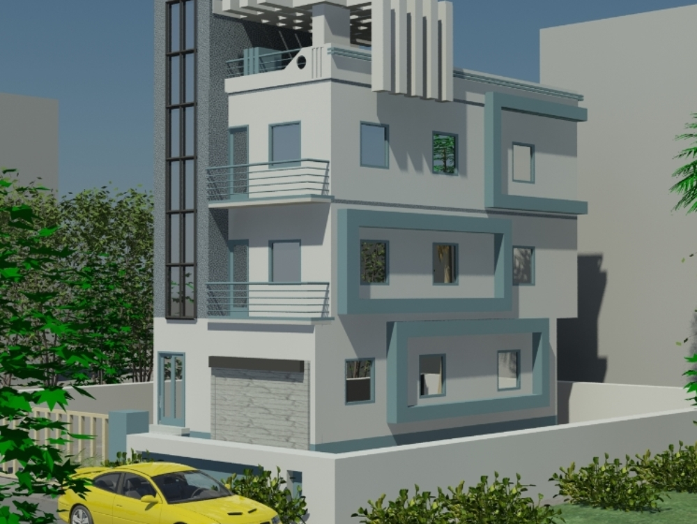 Multifamily house 3dmax modeling
