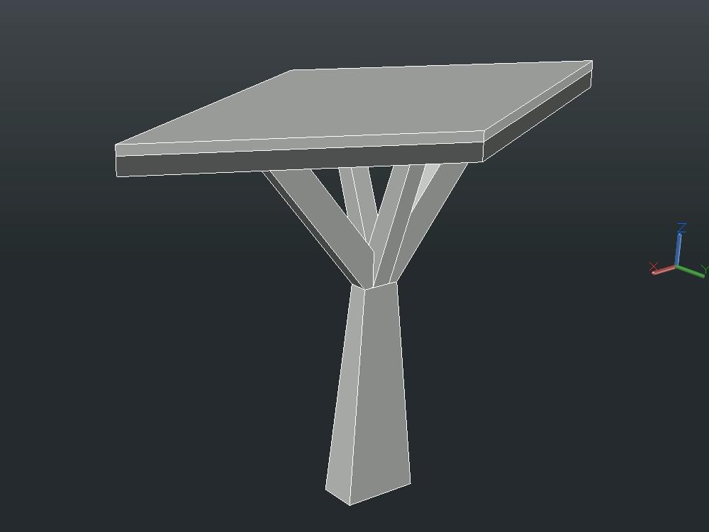 Modelo a flexocompresion 200cm cuadrados