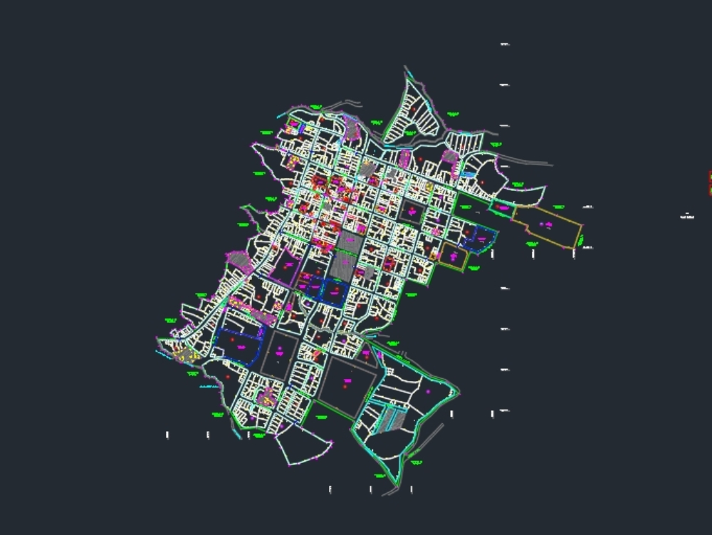 Georeferenced urban map of san miguel de pallaques