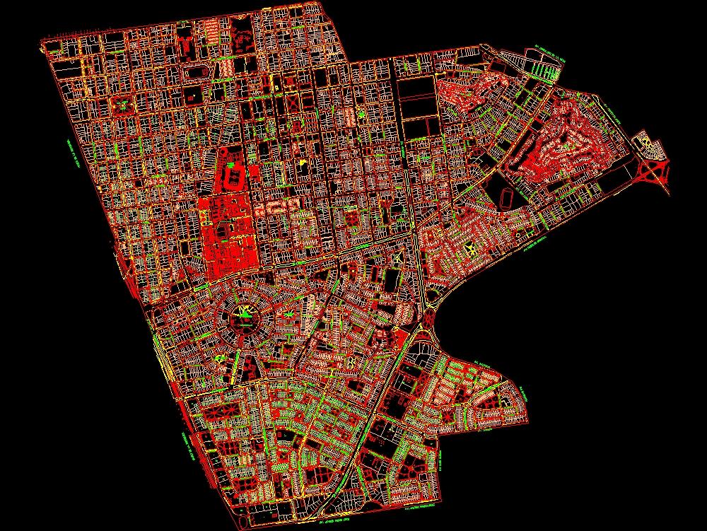 Cadastre of the city of lima metropolis