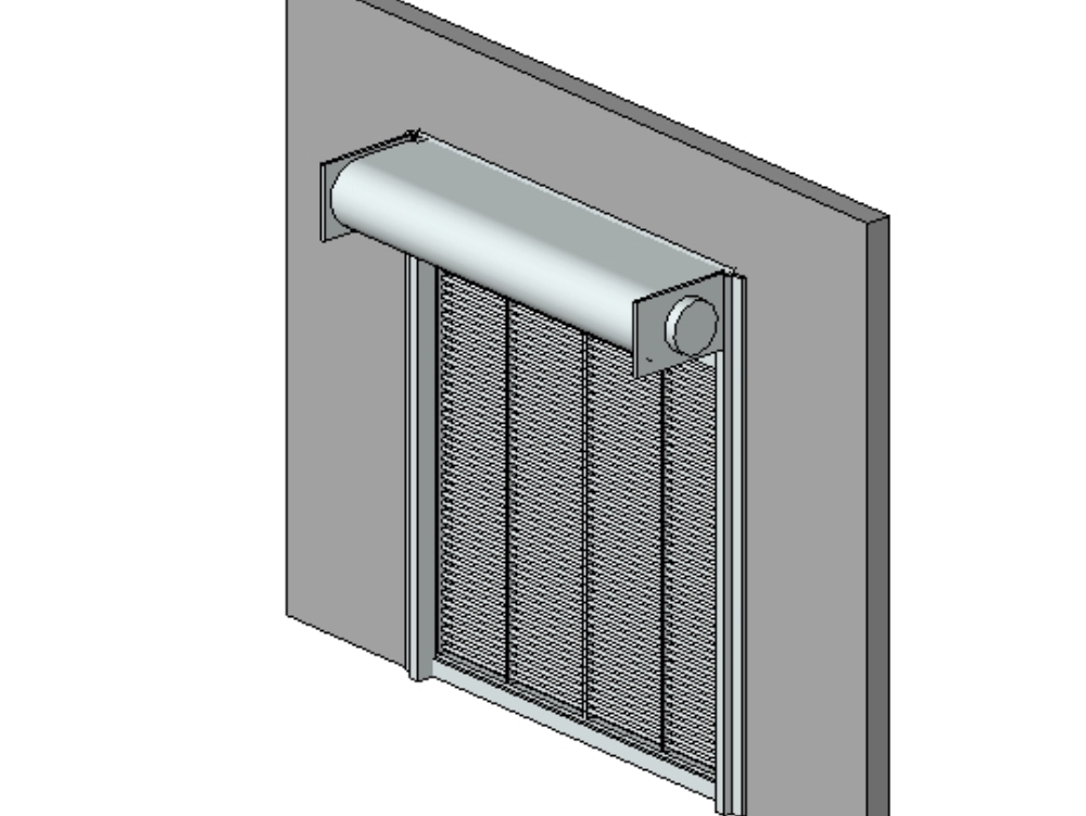 Revit industrial roll-up door