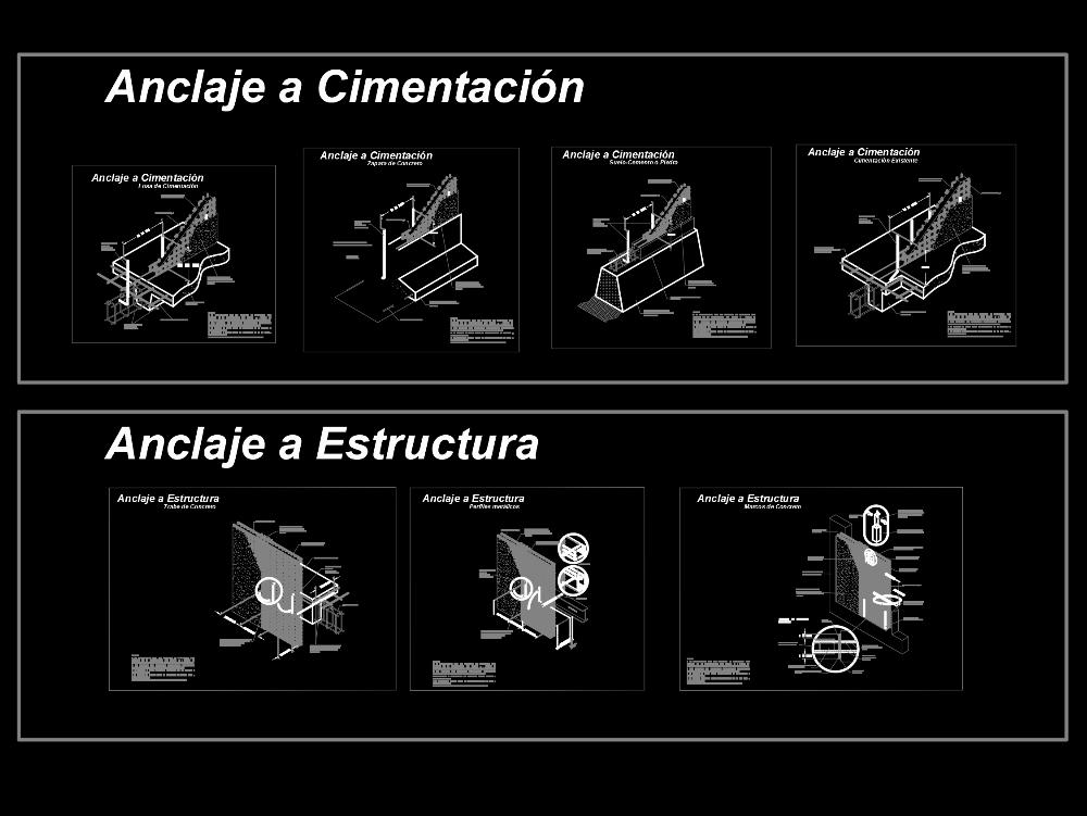 Detalles de durock y panel w para proyectos estructurales