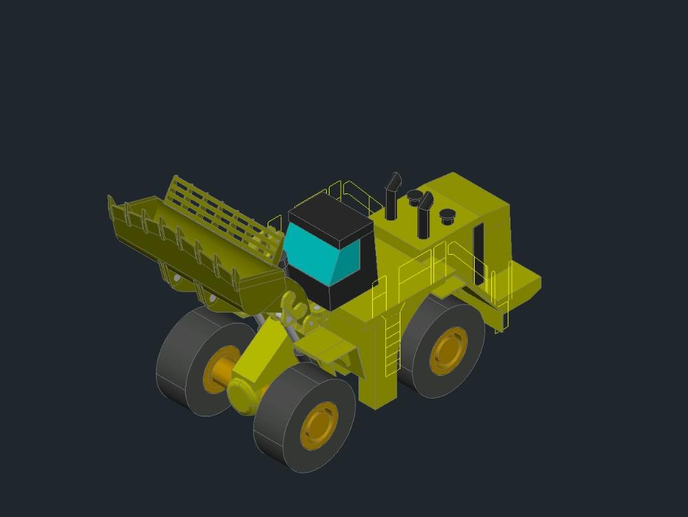 Large tractor shovel; of a motor grader