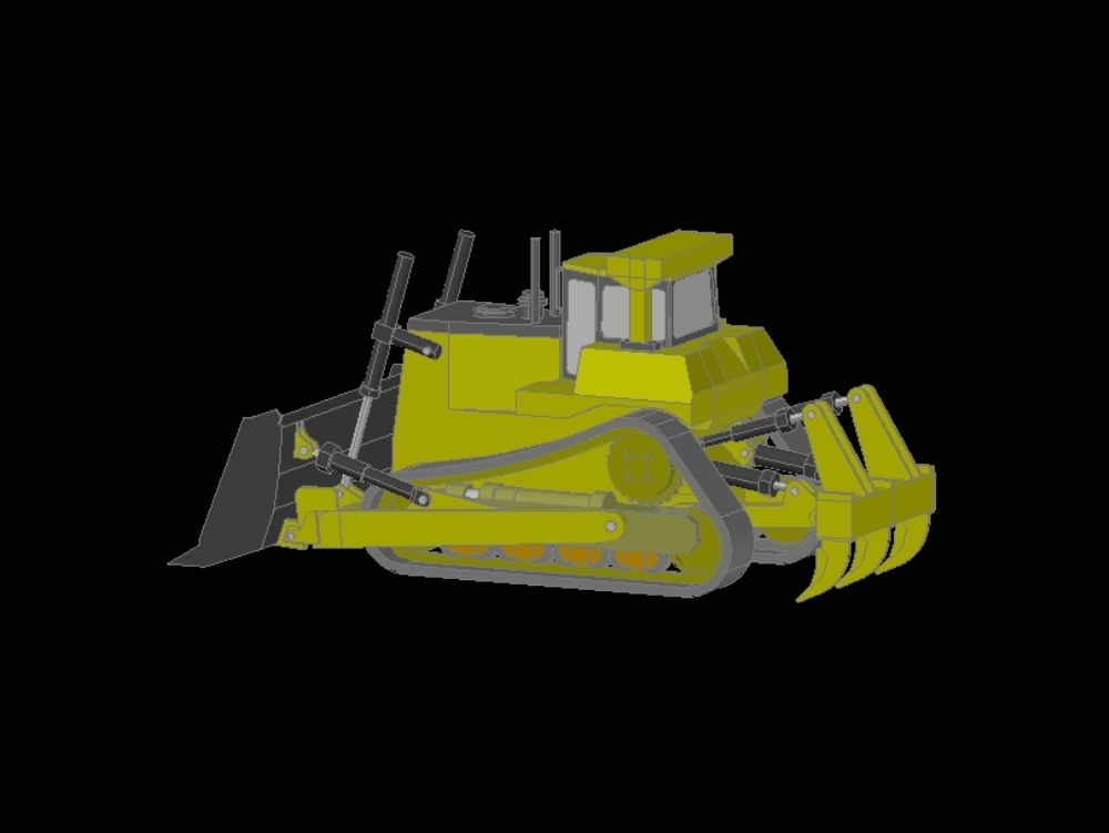 It's a bulldozer tractor; comes with his shovel