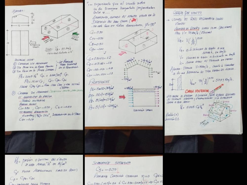 Design of wind loads with Peruvian standard