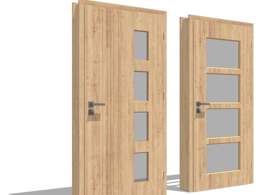 Wooden 3d door ready to render
