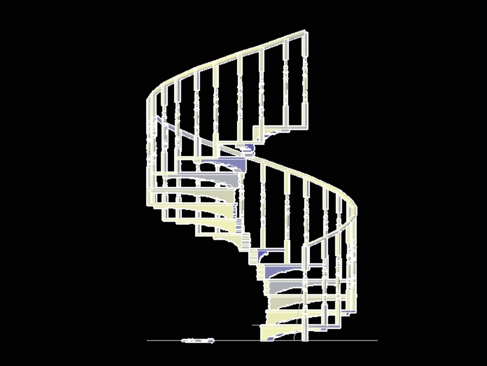 Spiral staircase loose parts