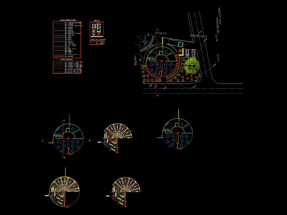 Circular shaped dining restaurant