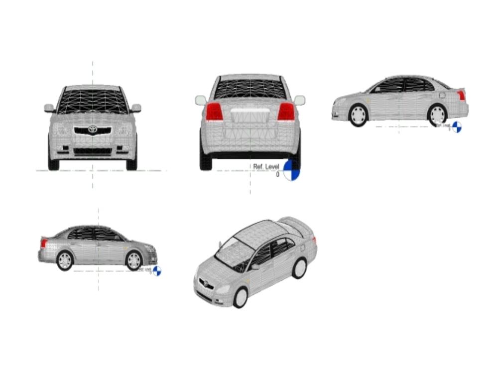 Toyota avensis - modelo revit