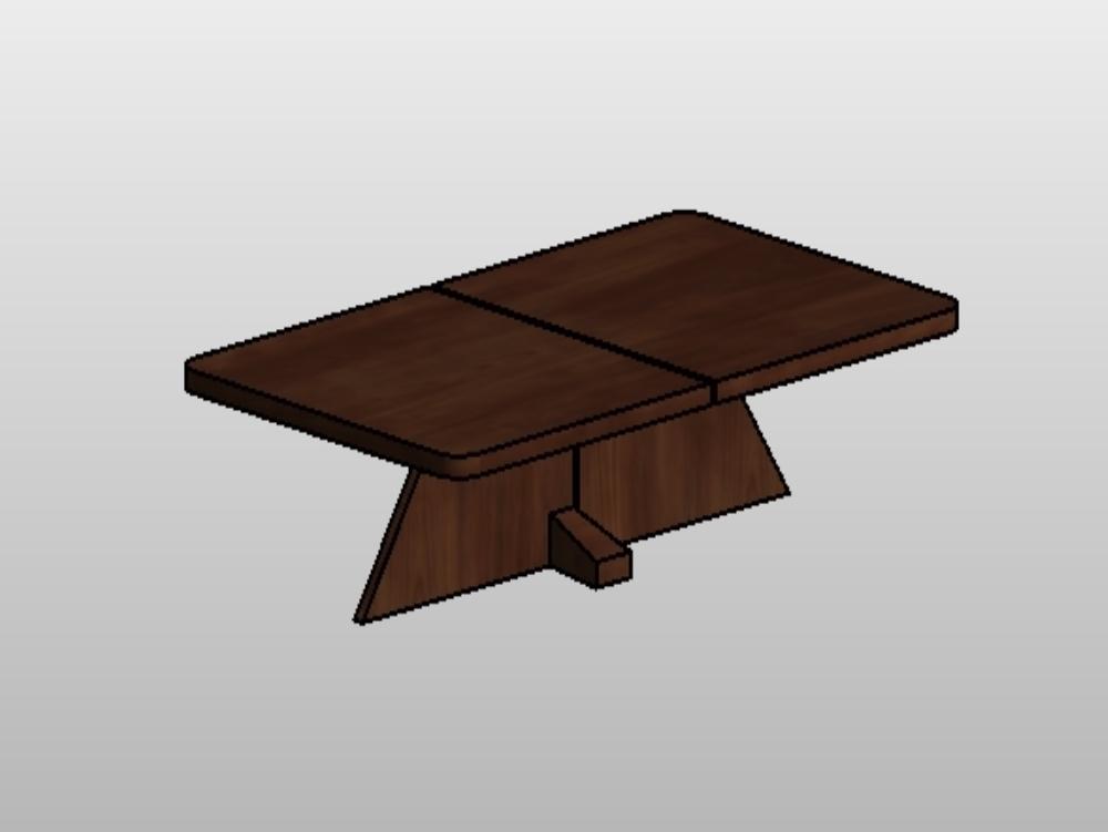 Mesa madera revit