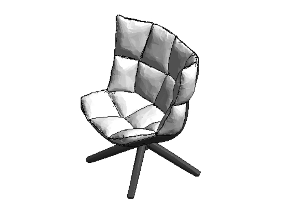 Padded chair for revit