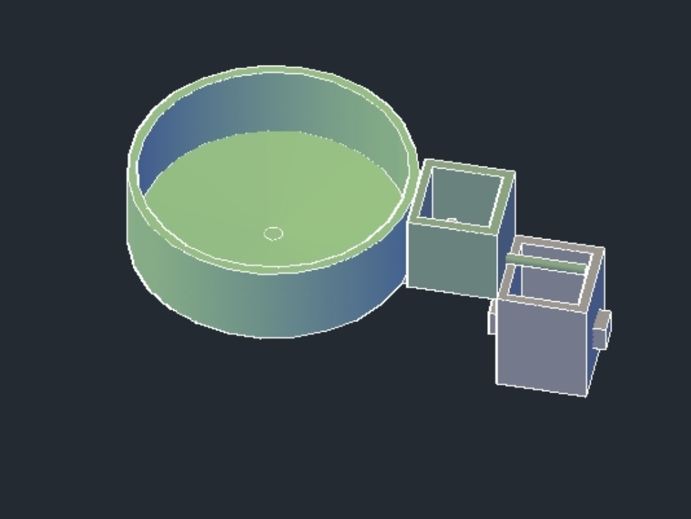 Pond and fish facilities in 3d