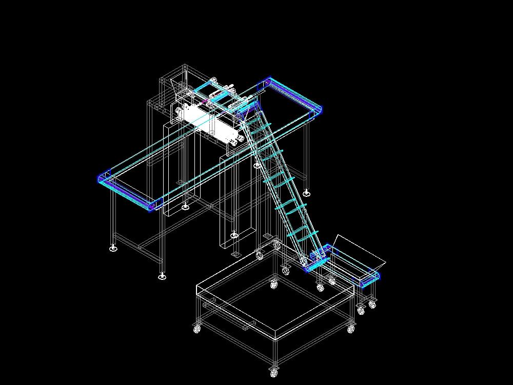 Incline modular conveyor transfer