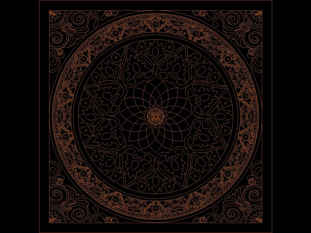 Decore design for floor tile or cieling
