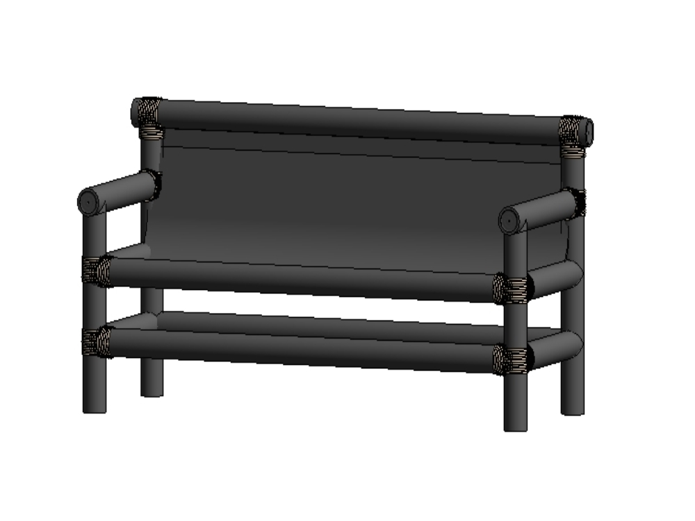 Parametric bamboo armchair_familia
