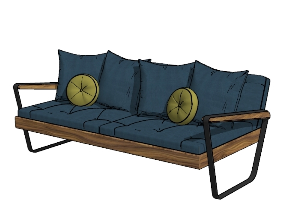 Furniture for living room and or terrace in 3d 2017
