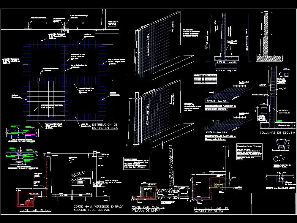 Construction details of a dam