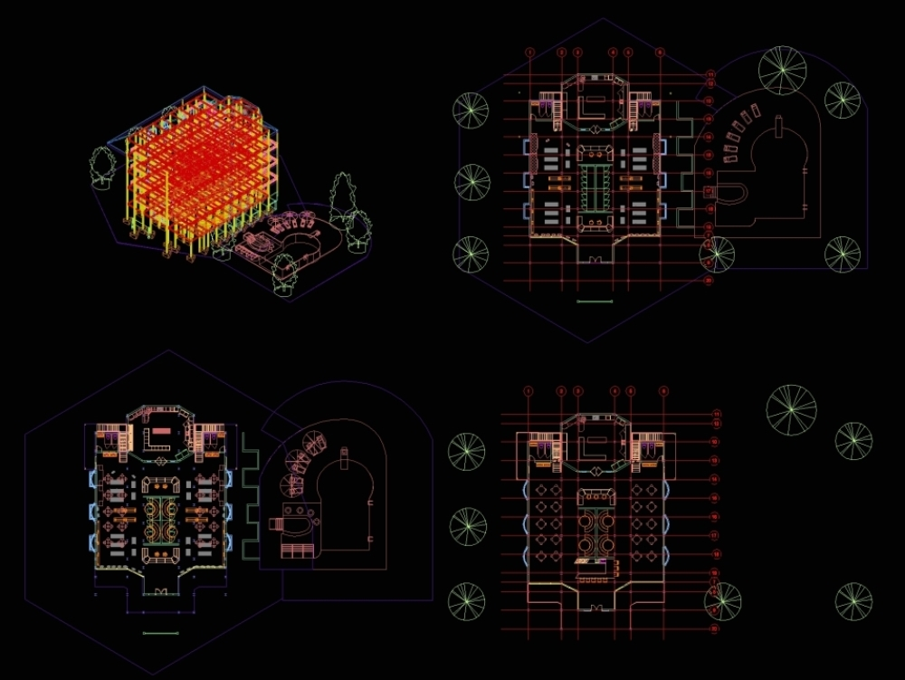 Revision for my revit 2020 concept for restaurant in autocad