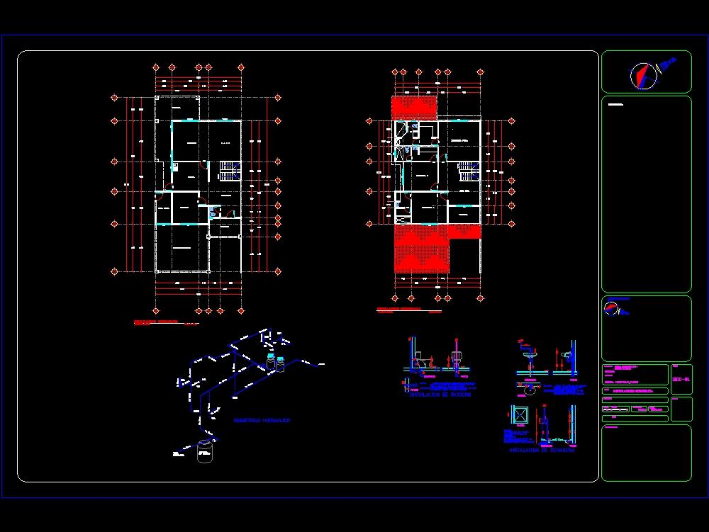 Plano hidráulico de casa duplex (2)