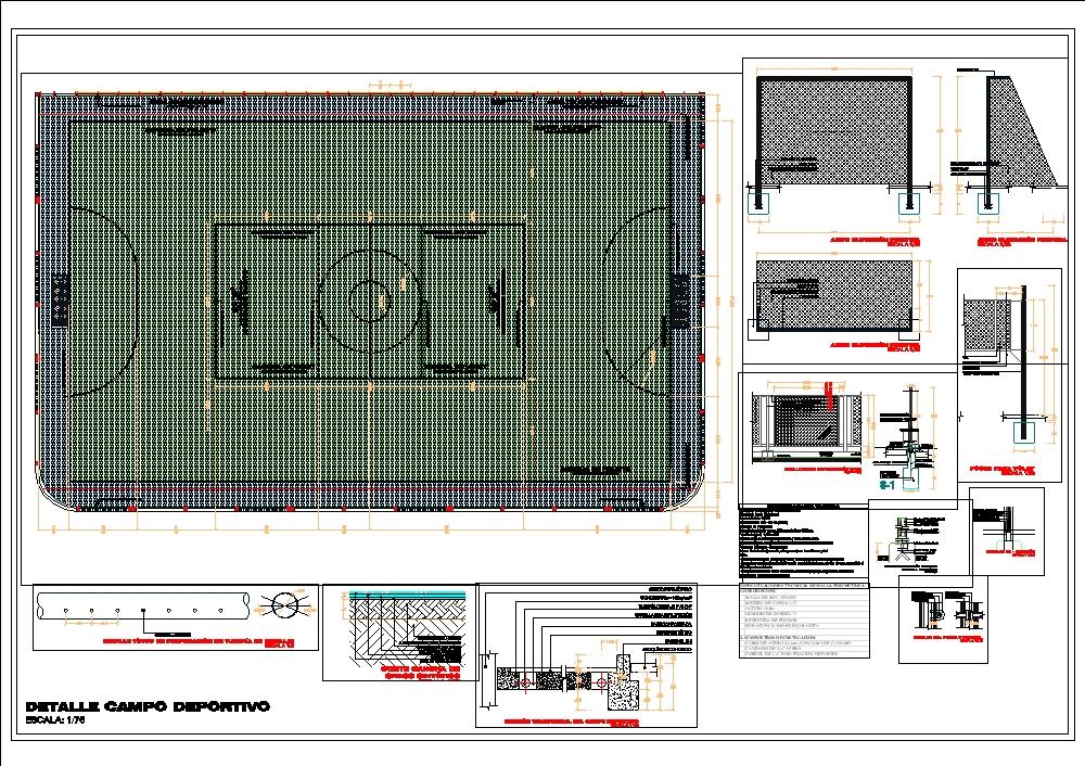 Campo deportivo en el departamento de tacna