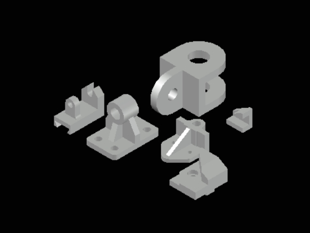 Solid exercises in 3d autocad