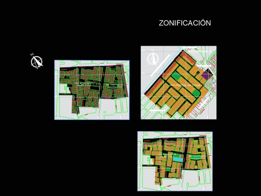 Urban plans of razuri - trujillo