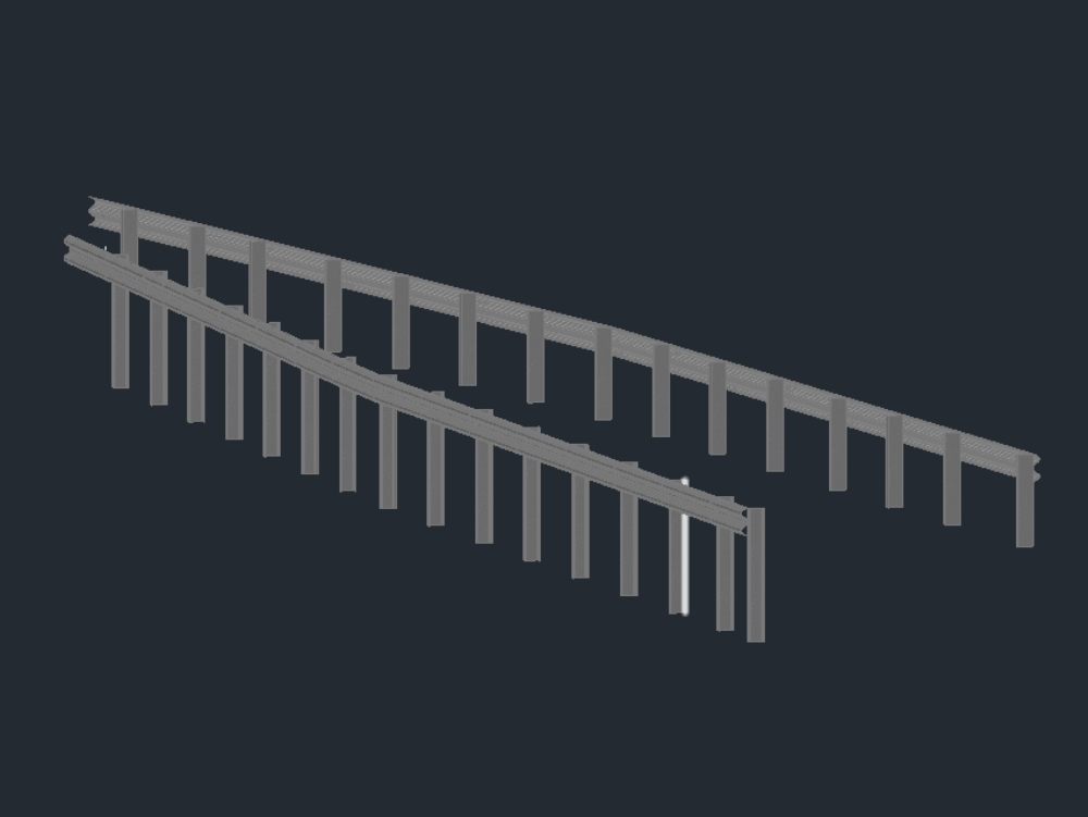 Flexible railings with 3d posts