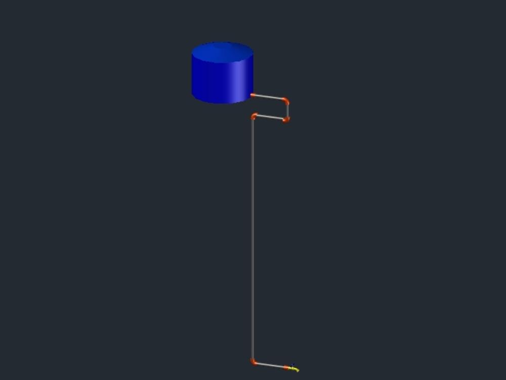 Diagram of a gravity water tank