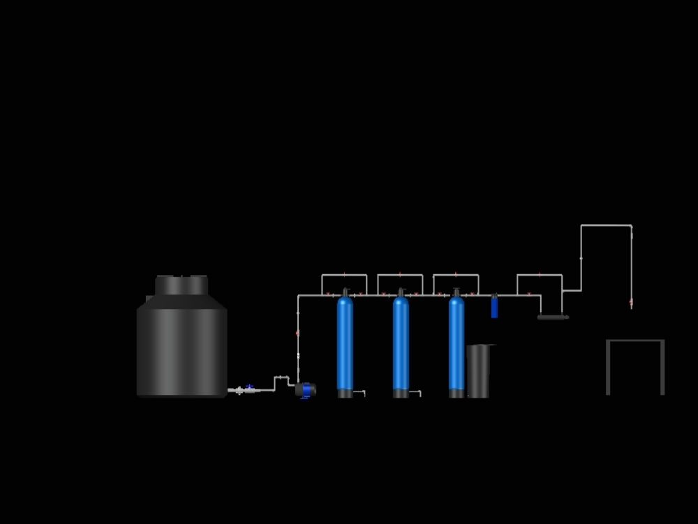 Modeling of filter media filters of a water purifier.