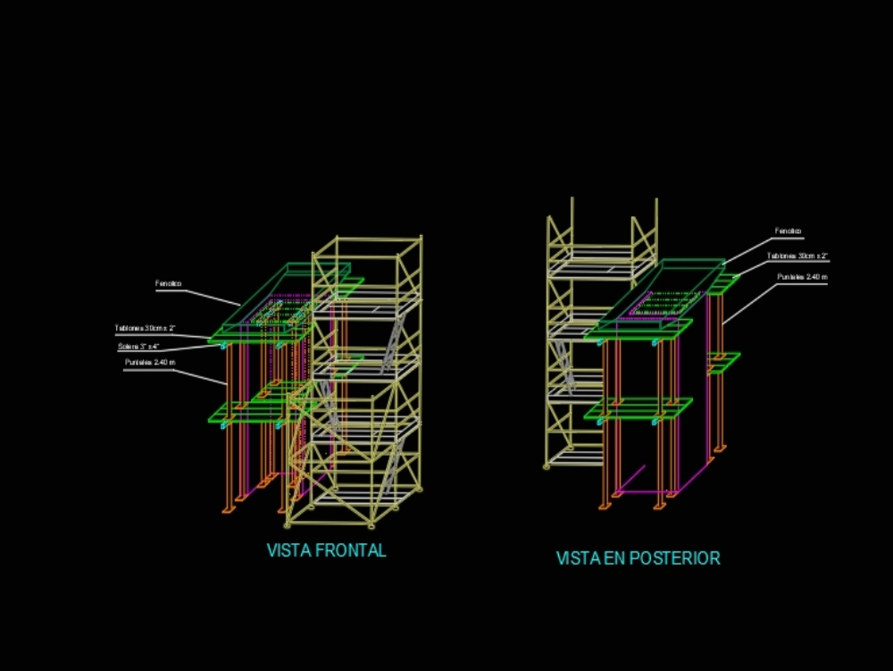 Modulation of towers for concrete pouring