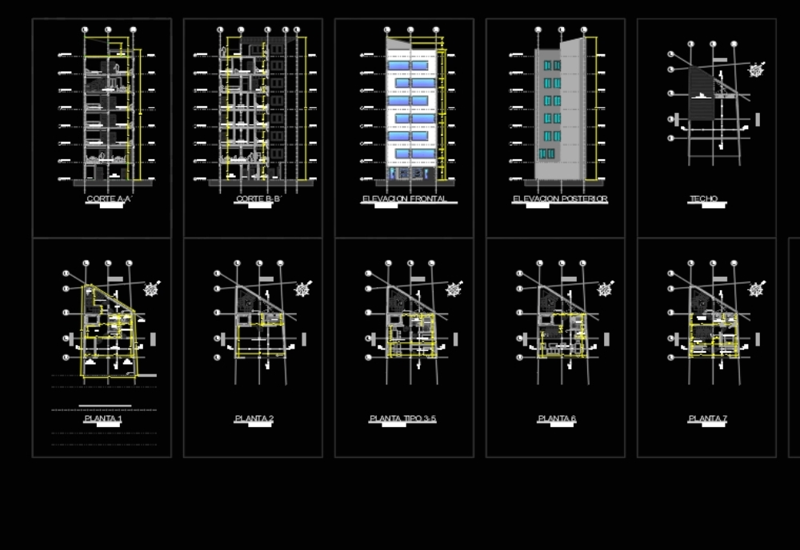 Vivienda multifamiliar - 7 niveles